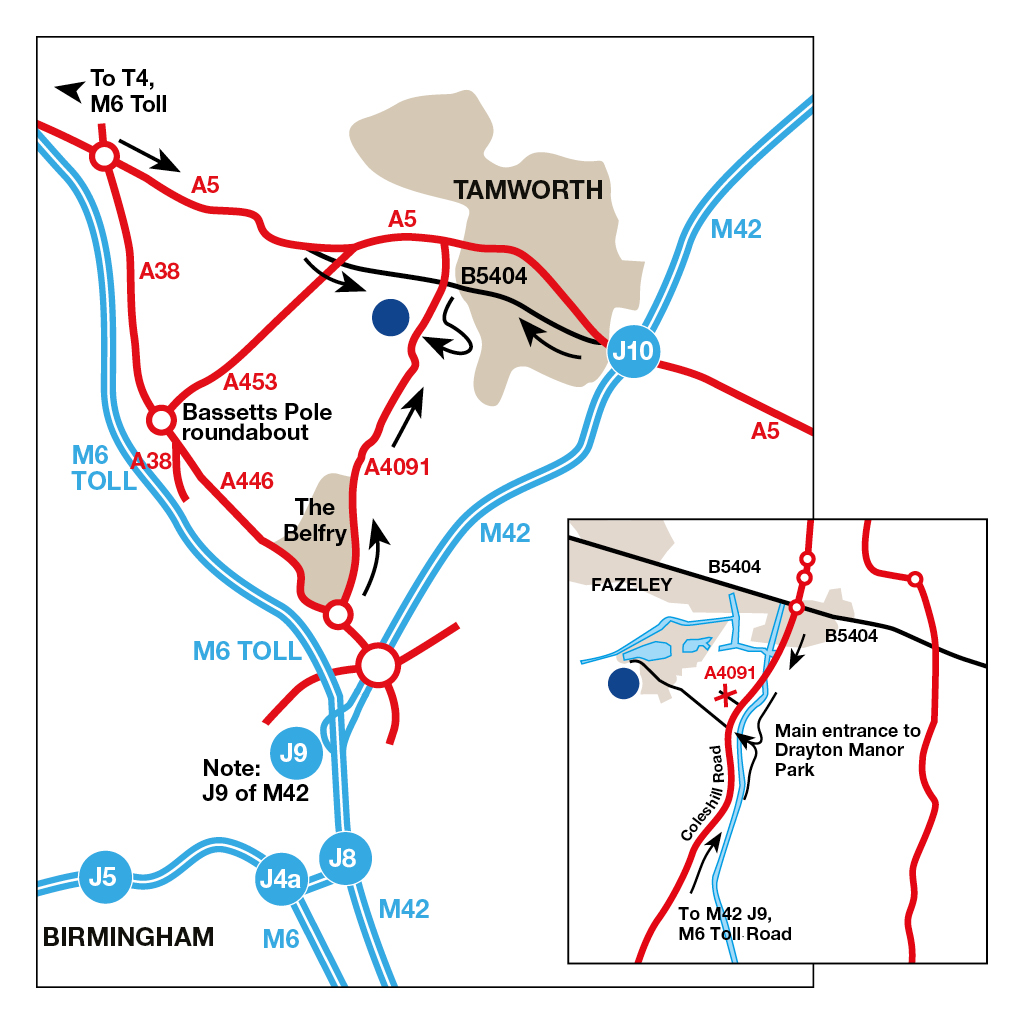 Drayton Manor - Camping and Caravanning Club Site - The