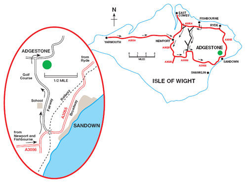 Location Map Adgestone 2011