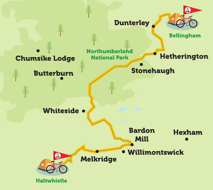 haltwhistle to bellingham