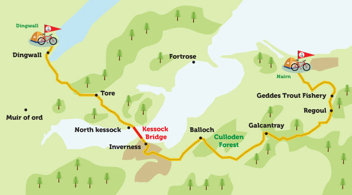 Nairn to Dingwall