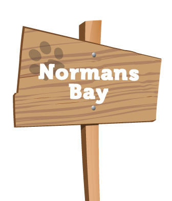 Normans Bay signpost