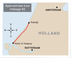 Holland Escorted Tour Map