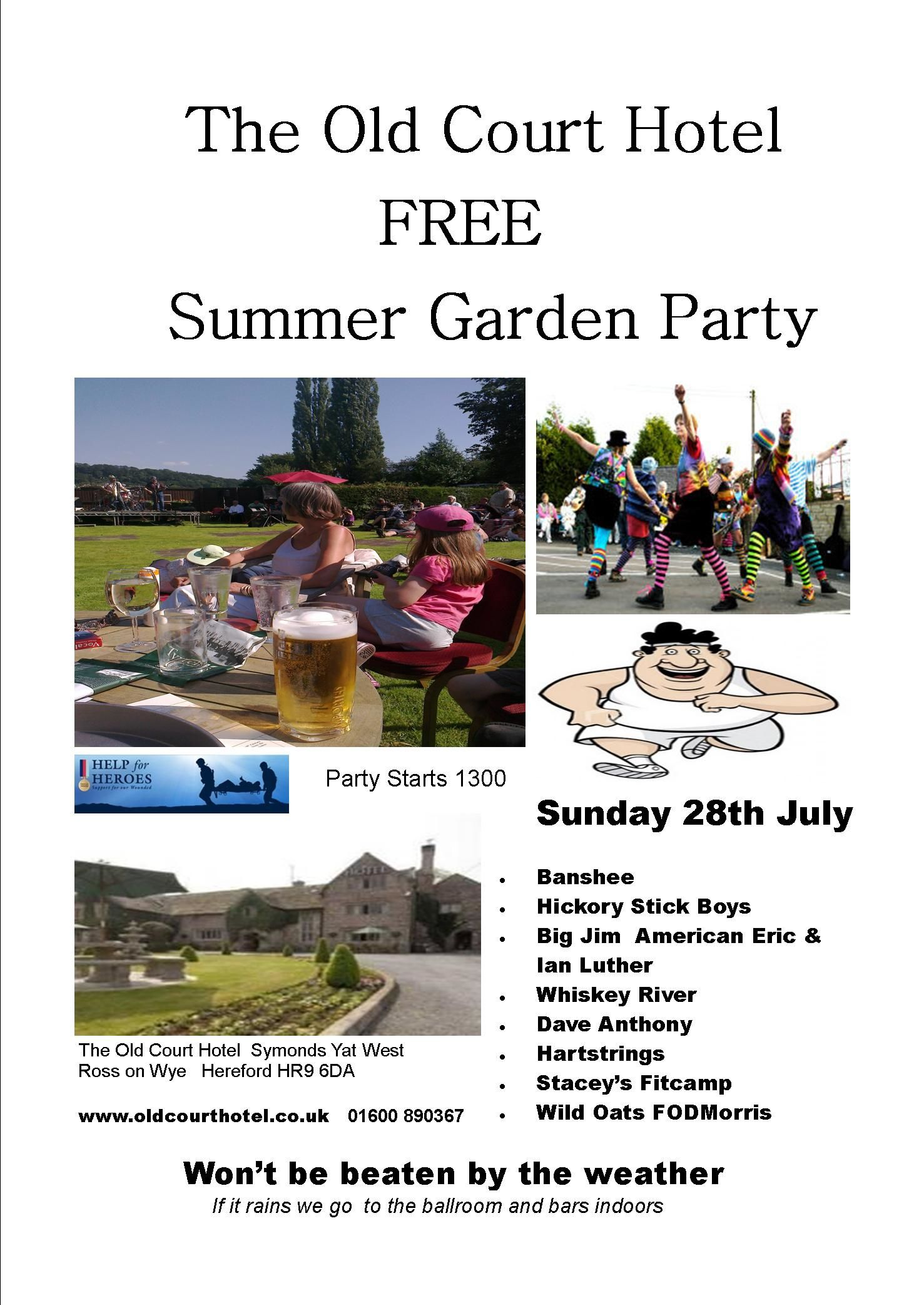 Old Court Hotel Free Summer Garden Party