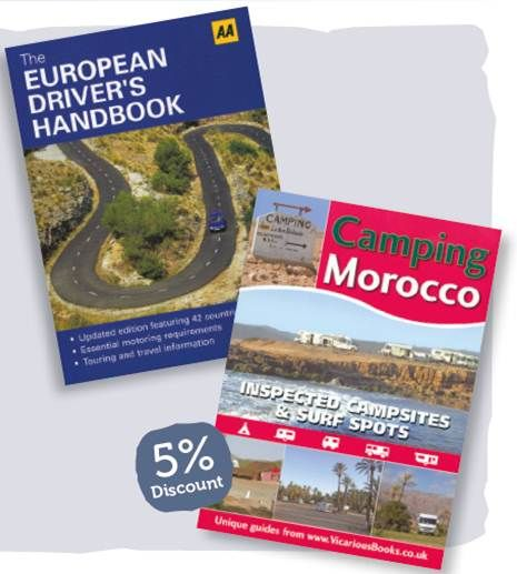European and Morocco guidebooks
