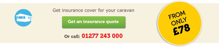 Static caravan insurance horizontal CTA