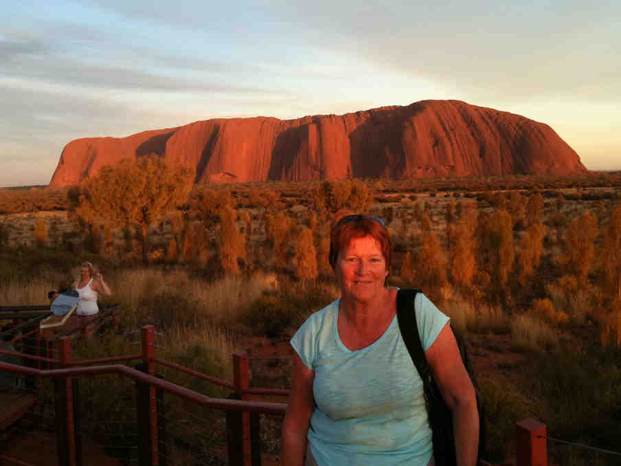 Damaris at Ayers Rock (Uluru)
