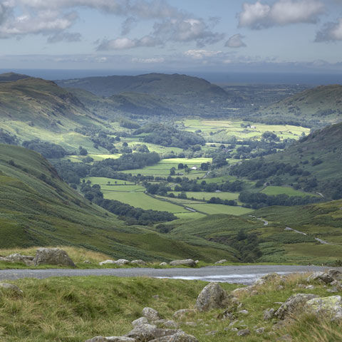 Picturesque views from Troutbeck campsite, Lake District