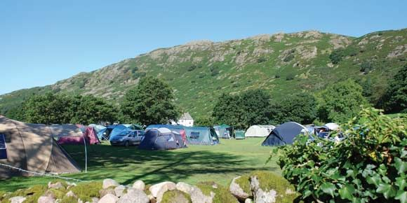 Camping paradise at Eskdale campsite, Lake District