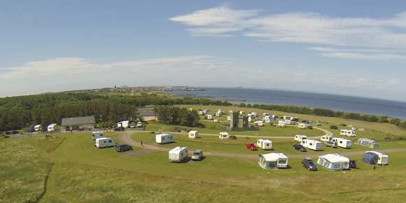 Perfect beach holiday at Dunbar campsite, campsites in Scotland