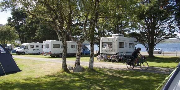 On the Shores of Loch Ewe Inverewe campsite, Scotland