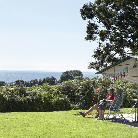 Beach holiday at Slapton Sands campsite, Devon