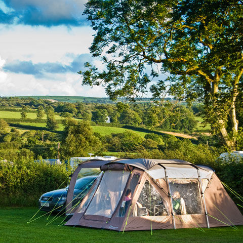 Tent pitches on our campsites in Wales