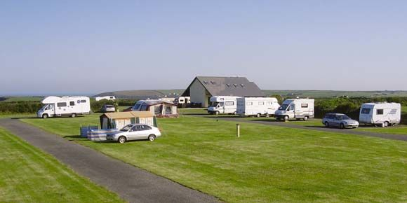 Beach holiday at Tregurrian Campsite, Cornwall