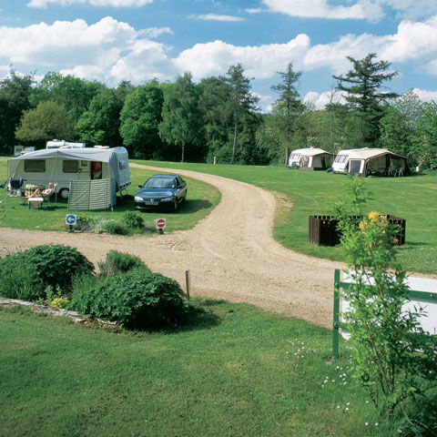 Grass pitches at Winchcombe Campsite, Cotswold