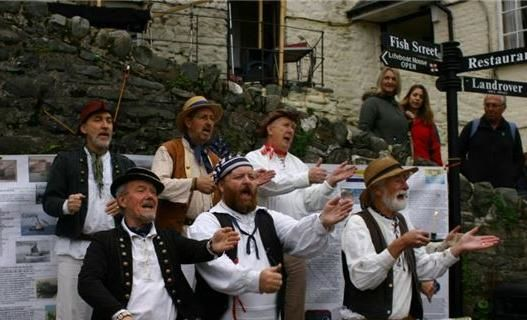 Shanty Singers at Clovelly Herring Festival. Photo by Pat Adams