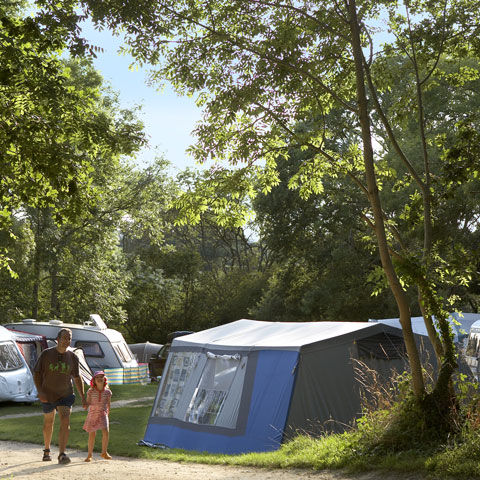 Corfe Castle campsite, Dorset lies next to a area of outstanding natural beauty
