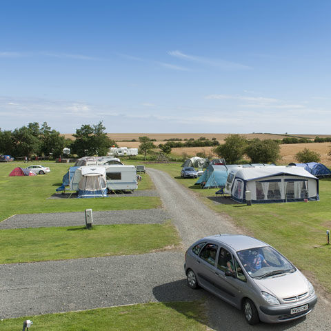 Beach holiday at Dunstan Hill campsite, Northumberland