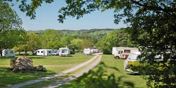 Cycling at Bakewell Campsite, campsites in the Peak District