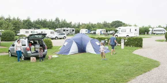 Grass and Hardstanding pitches at Teversal Campsite, campsites in the Peak District