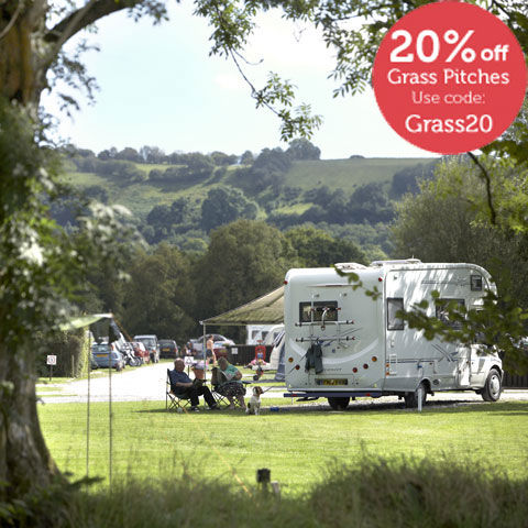 Motorhome pitches at Rhandirmwyn, campsites in Wales