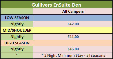 Gullivers Ensuite Den Prices