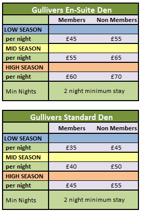 Gullivers En Suite Den Pricing 2015