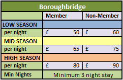 Boroughbridge Lodges 2015 pricing