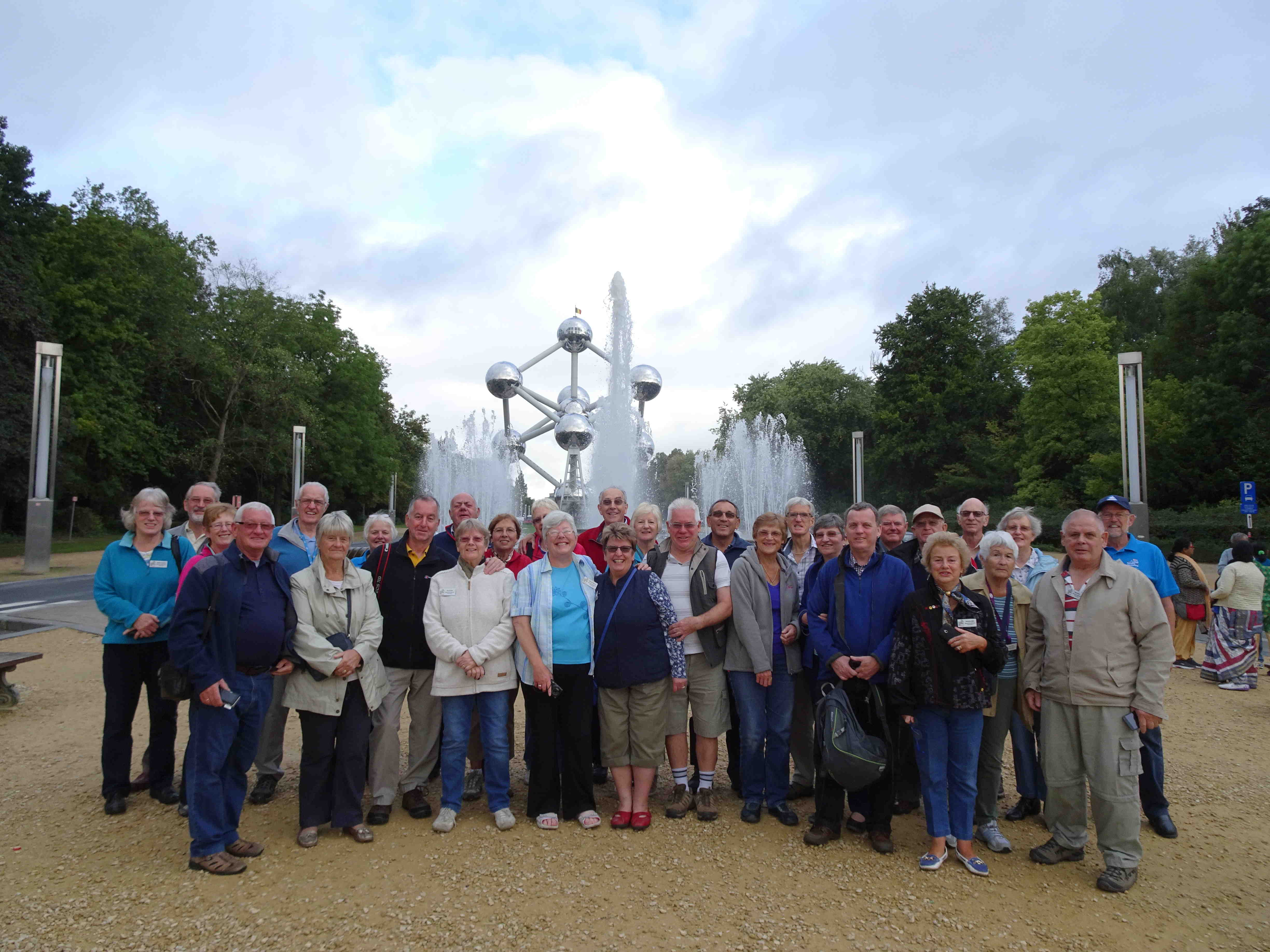Group at The Atomium, Brussels 2015
