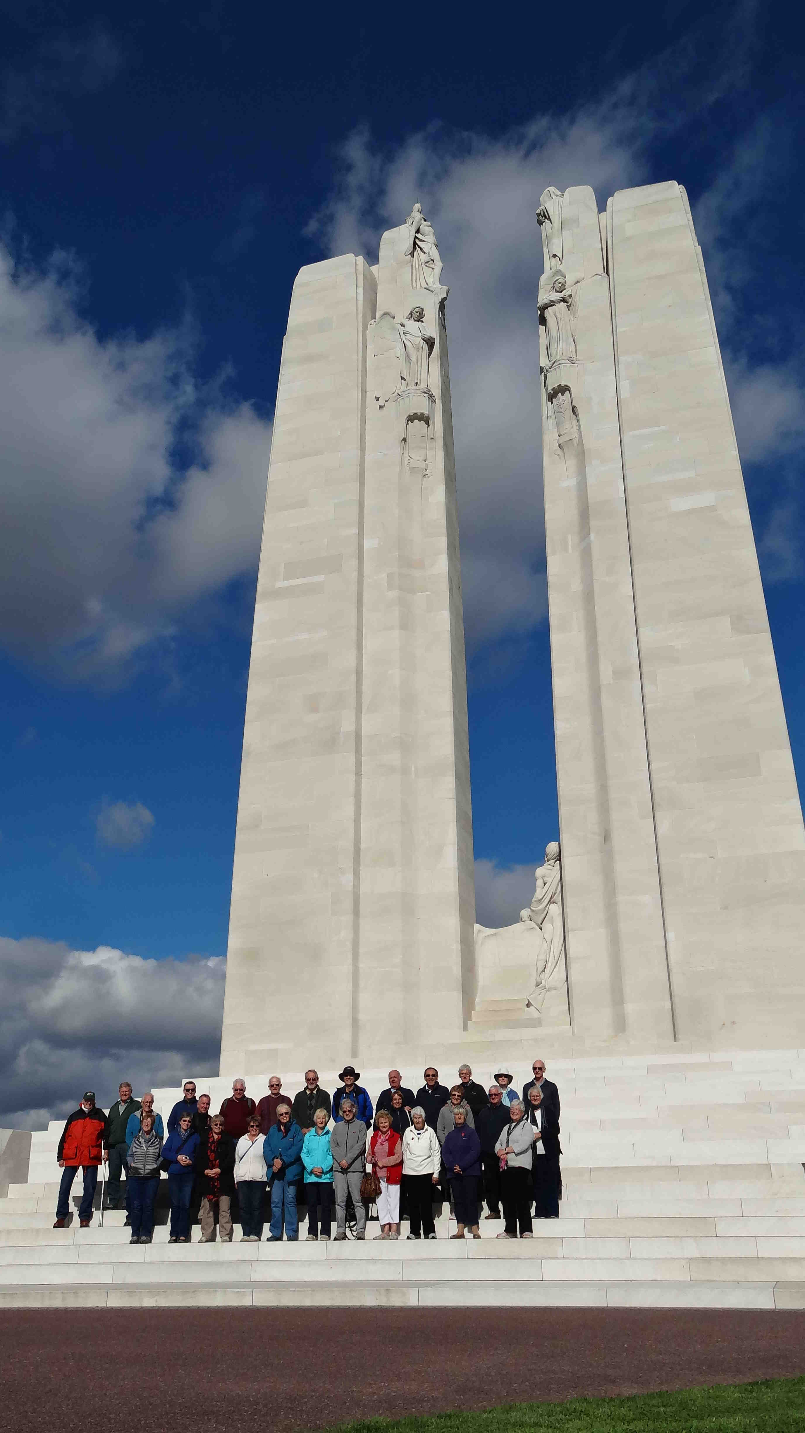 Group at Vimy Ridge 2015