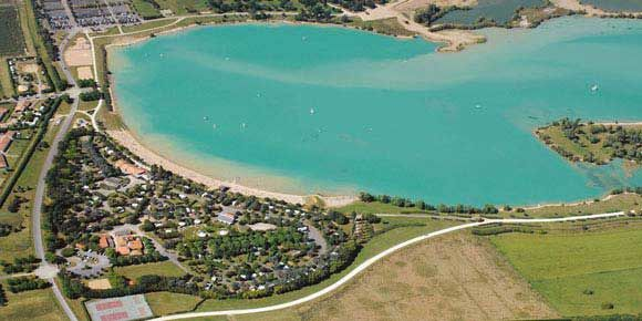 Campsites central france; Lac de St Cyr campsite