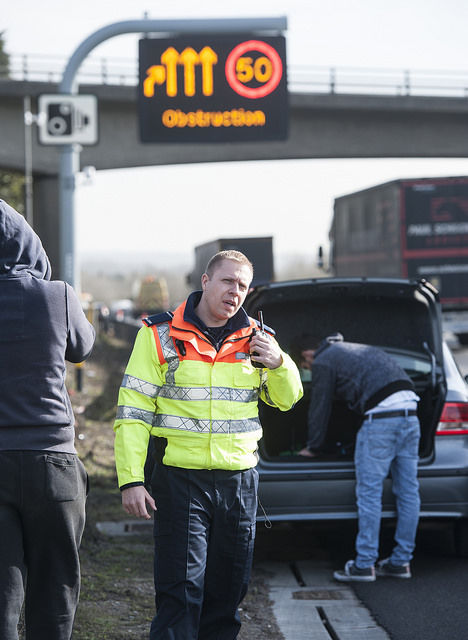 Traffic Officer at motorway incident