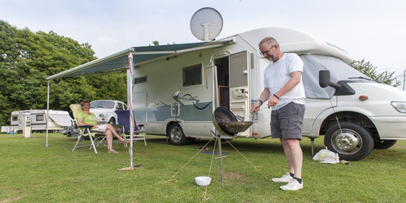 Hardstanding pitches at Canterbury campsite, campsites in Kent