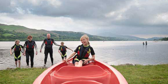 Watersports on campsites in Wales