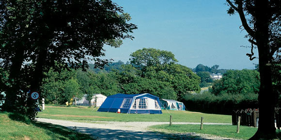Grass pitches at Llanystumdwy, campsites in Wales