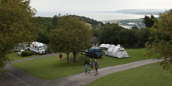 Beach holiday at Minehead campsite, campsites in Somerset