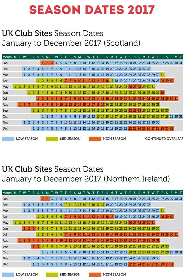 UK 2017 Season Dates