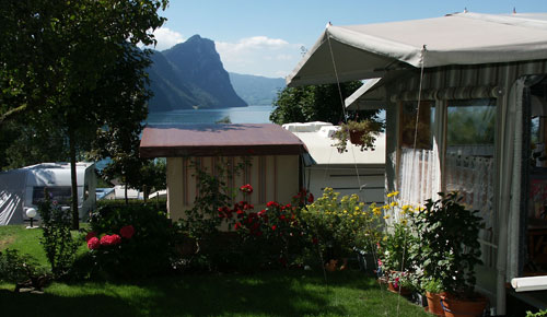 Camping in Switzerland; Vitznau campsite