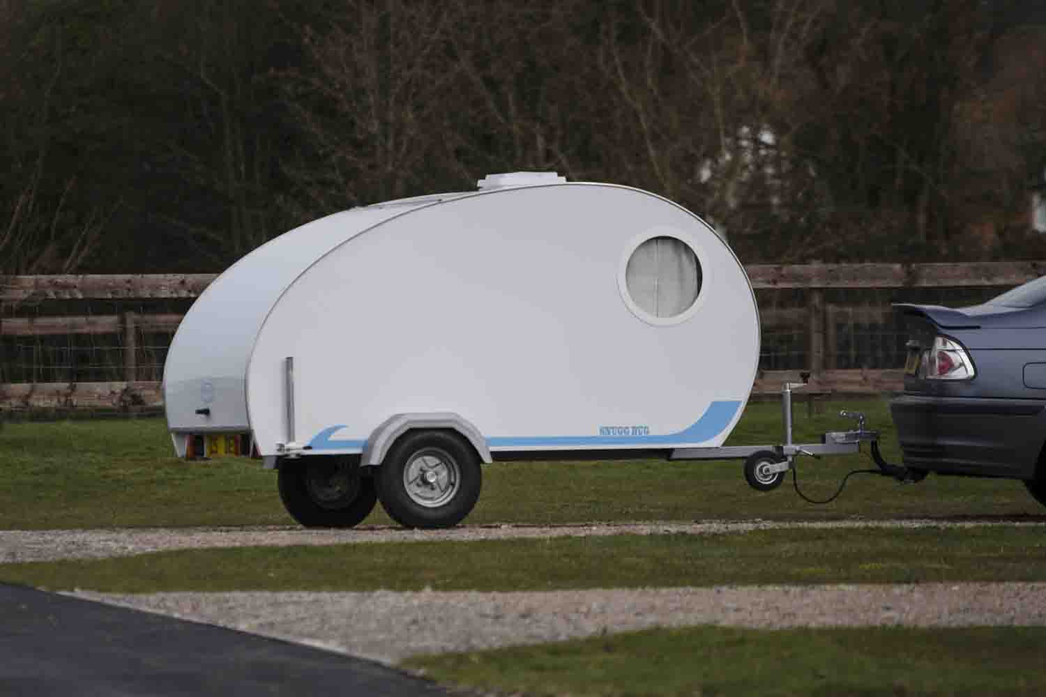 d19dab68bd Small unbraked trailer such as this camping pod are available to tow