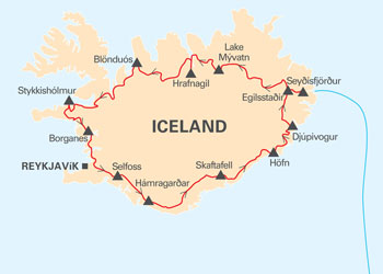 Iceland-tour-map