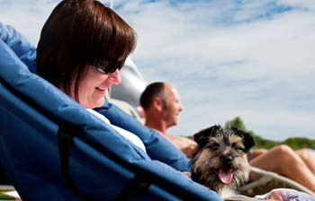 Lady-relaxing-with-dog-