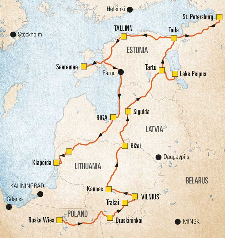 The Baltic States The Camping And Caravanning Club
