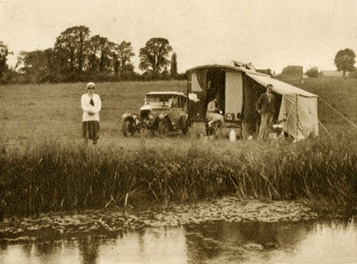 Lean to tent early 1920s
