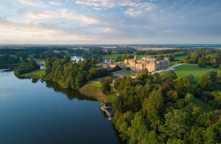 Blenheim Palace aerial shot