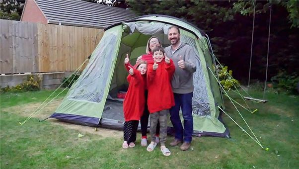How to get the kids camping in the garden