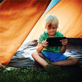 Kids prefer connected camping