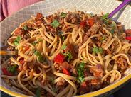 Lamb linguine