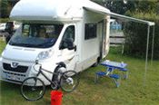 A motorhome canopy awning