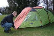 Practice pitching your tent