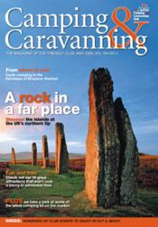 Camping and Caravanning magazine front cover