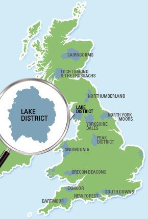 lake district in uk map Camping In The Lake District National Park The Camping And lake district in uk map
